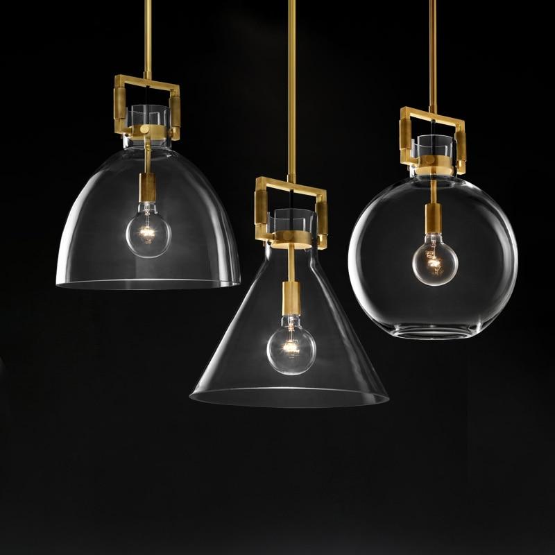 الأمريكية RH مصباح الرجعية اديسون E27 قلادة LED أضواء الذهب المعادن قلادة Led مصباح Indor الإضاءة Droplight شنقا مصباح