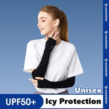Ice Silk Sunscreen Sleeves Unisex Summer Cycing  Sleeves For Outdoor Sports Arm Covers Sunshade And