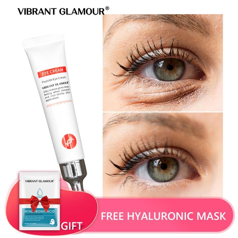 Peptide Collagen Eye Cream Anti Wrinkle Remove Eye Bag Anti Puffiness Dark Circles Fat Granule Moist