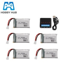 Upgraded 3.7V 1000mAh 25c Lipo Battery + 5 in 1 Charger for Syma X5 X5C X5SC X5SW TK M68 CX-30 K60 9