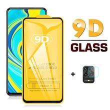 2-in-1 9D Tempered Glass + camera lens glass for xiaomi redmi red mi note 9 pro 9s 9pro max 9 s note9 Pro Max screen protector