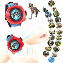 Children's Cartoon Projection Watch 20 Pictures Dinosaur Princess Lion Boys Girls Kindergarten Gifts