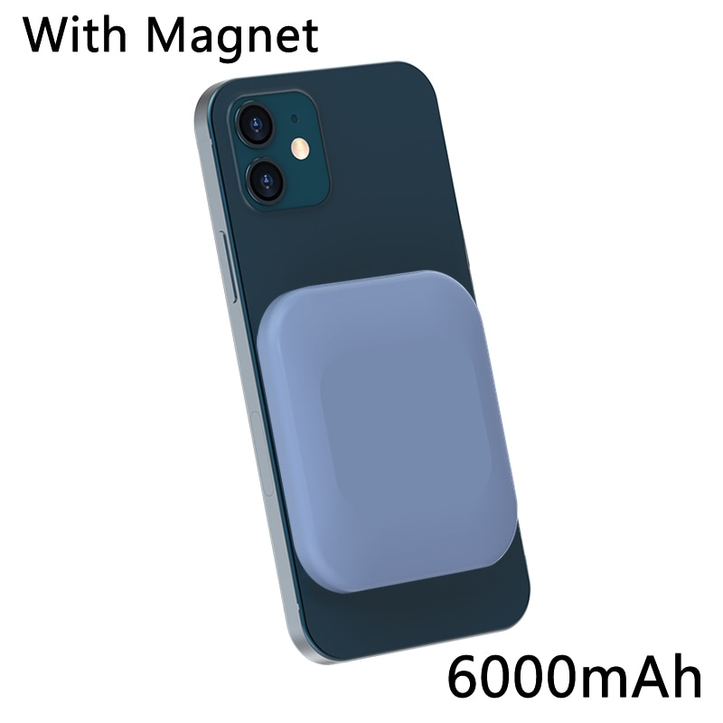 15W Magnetic Wireless Power Bank For Magsafe Charger For iphone12 12Pro 12proMax 12mini PD18W Fast Charging Mobile Phone Battery