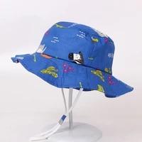 childrens girl beach sun hat fashion cartoon print bucket hats boys cap spring summer outdoor sunshade caps