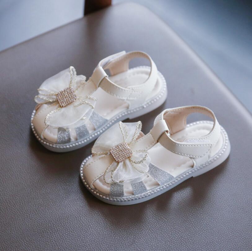 Kids Sandals 2021 Summer Children Fashion Princess Flats Heels Baby Little Girls Brand Soft Shoes To