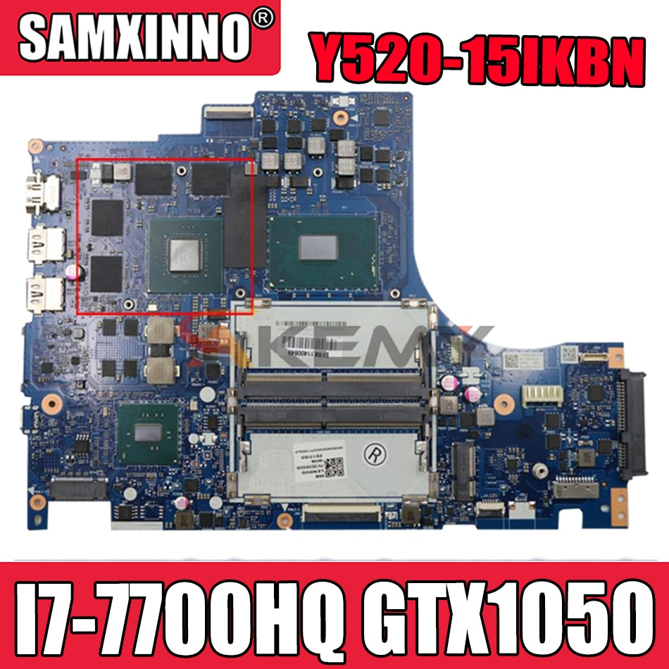 Akemy لينوفو Y520 Y520-15IKBN دفتر اللوحة DY512 NM-B191 اللوحة CPU I7 7700HQ GPU GTX1050 100% اختبار
