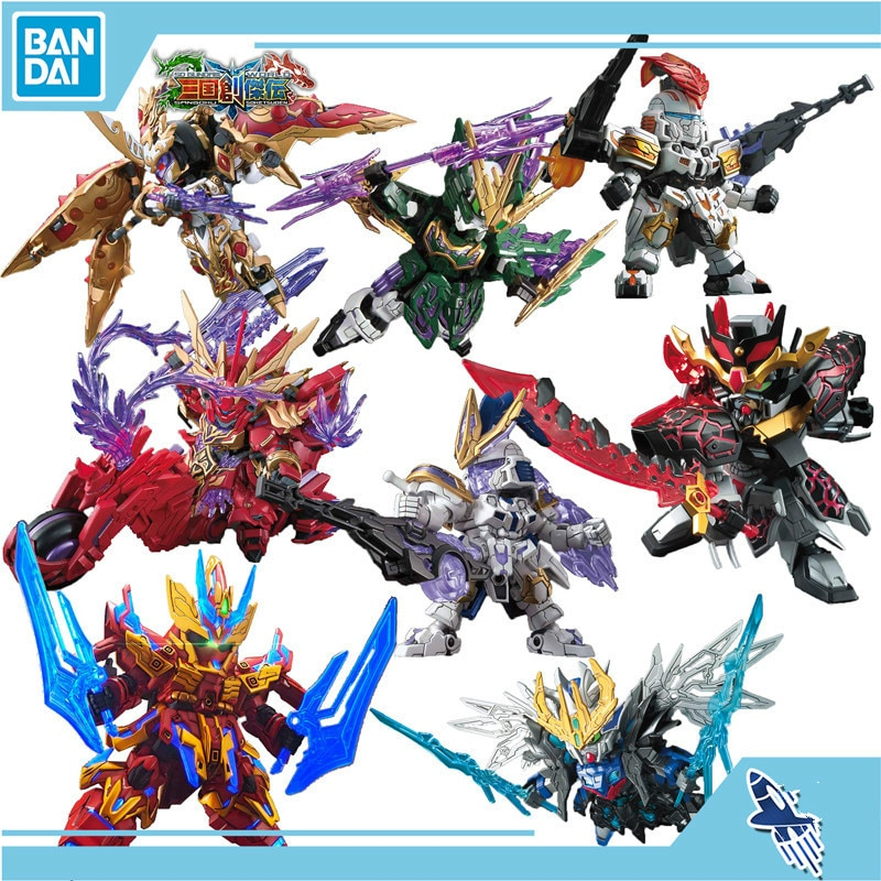 Bandai SD GUNDAM WORLD SANGOKU SOKETSUDEN BB GUNDAM Guan Yu ZhaoYun экшн-диаграмма с редкими точками для детей, собранная игрушка, подарки