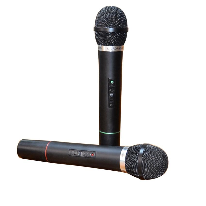 Universal Wireless Microphone 2 In 1 VHF  Receive Handheld Mic Black enlarge