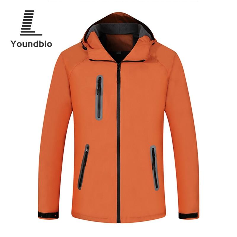 2021 Men Mountaineering clothes Reflective Windproof Waterproof Jacket Mens Outdoor Thicken Autumn And Winter Hooded Men Coat
