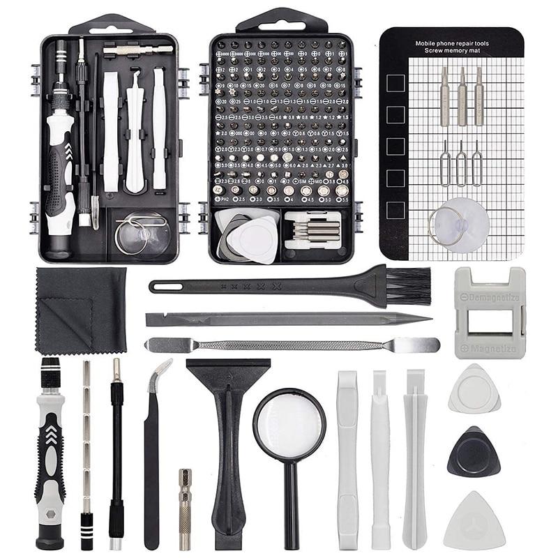 130 in 1 Precision Screwdriver Set Mini Professional Magnetic Electronics Repair Tools for Phone Com
