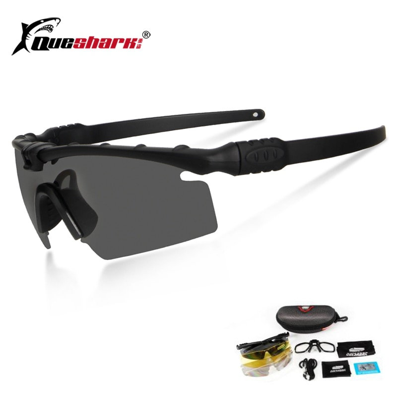 Queshark Army BALLISTIC 3.0 Protection Military Glasses Paintball Shooting Goggles Tactical Polarize