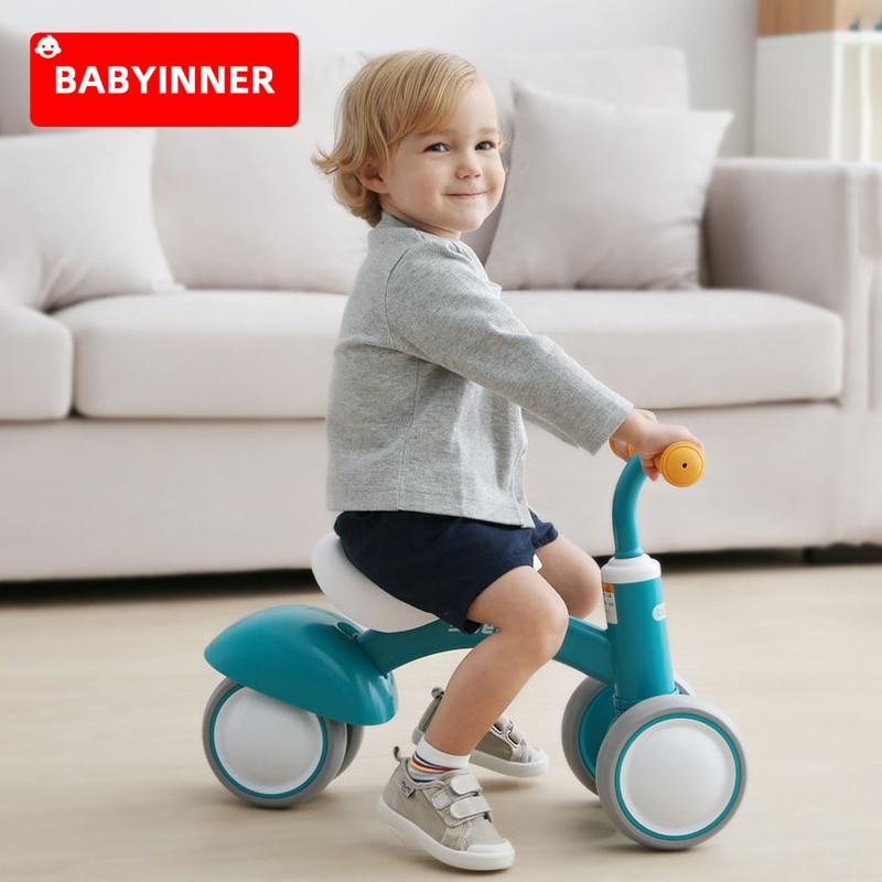 Babyinside عجلة توازن للأطفال لا الدواسات دراجة أطفال مكافحة التمديد طفل انزلاق لعبة 4 عجلات التعلم المشي سكوتر الطفل هدية