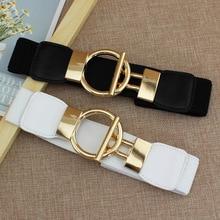 Simple Round Buckle Belt for Women Fashion Elastic Dress Jeans Belts Coat Sweater Decoration cinturo