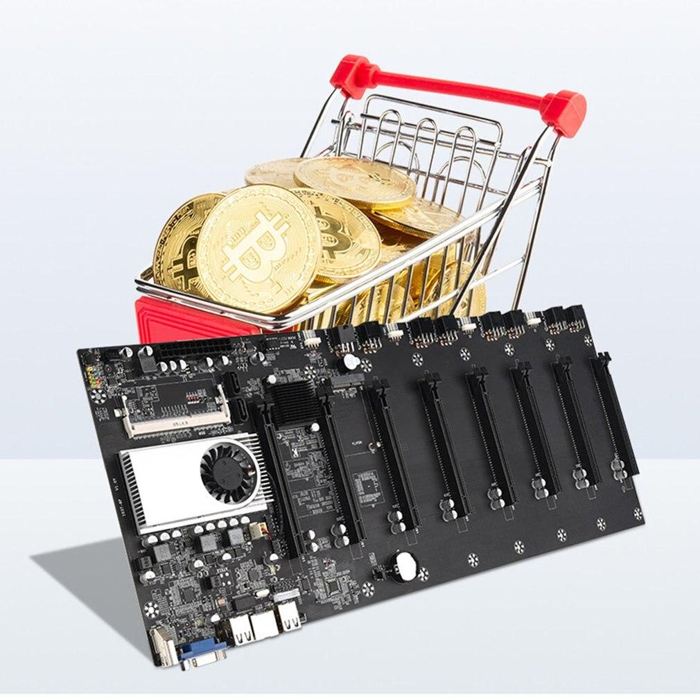 BTC-37 Riserless التعدين اللوحة 8 وحدة معالجة الرسومات بيتكوين/تشفير/ايثروم التعدين DDR3 الذاكرة المتكاملة