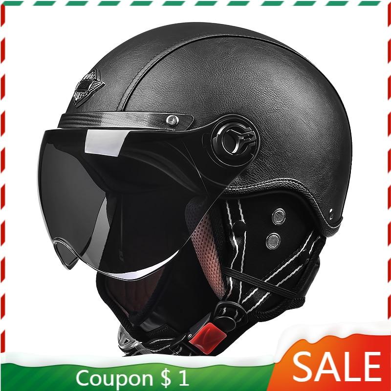 Casque Moto-دراجة نارية عتيقة ، سكوتر أمان ، محرك ، عتيق ، خوذة أمان ، زجاج أمامي للدراجات النارية