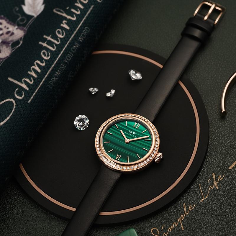 Swiss Aiwochi watch female simple temperament ladies watch top ten famous brand light luxury diamond watch belt enlarge