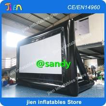 ¡Envío aéreo gratis! pantalla de cine inflable gigante de 16:9, pantalla de proyección inflable para exteriores, pantalla de proyector inflable