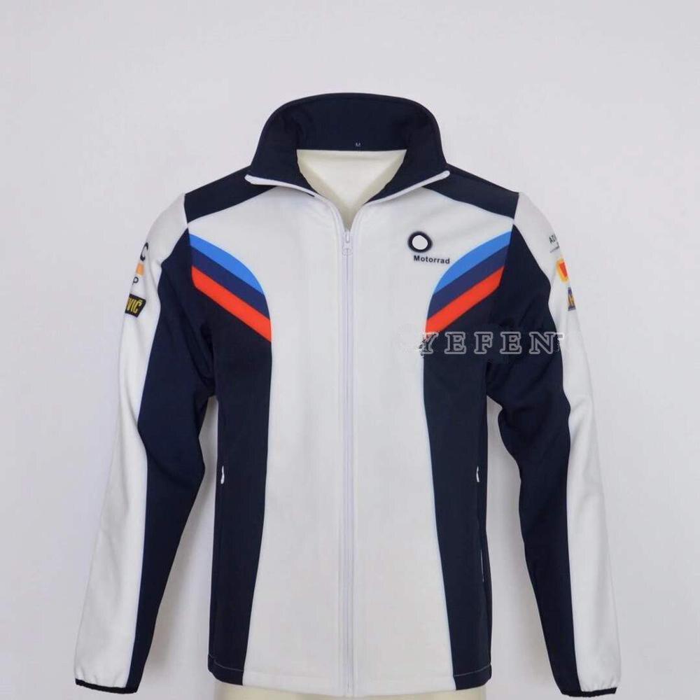 Motorcycle Motorrad Zip Fleece Sweatshirt For BMW WorldSBK Team Bike Racing Driving Sports Cotton Men's Jacket