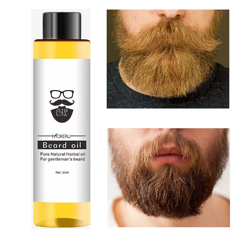 Nourishing oil for beard and moustache, natural beard growth oil, beard maintenance product, anti-wr