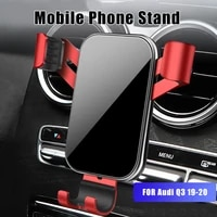 mobile phone holder for audi q3 2019 2020 gps rotation stable cell phone bracket stand auto accessories for iphone huawei xiaomi