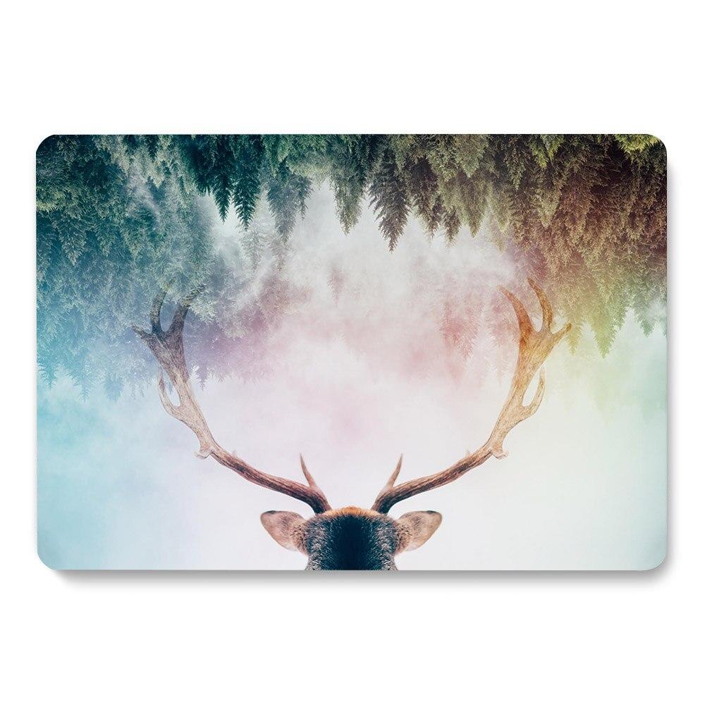 Forest Milu-غلاف الكمبيوتر المحمول بنمط الغزلان ، لجهاز Apple MacBook Retina Air 11 12 13.3 ، Pro 15.4 ، 16 بوصة ، جديد