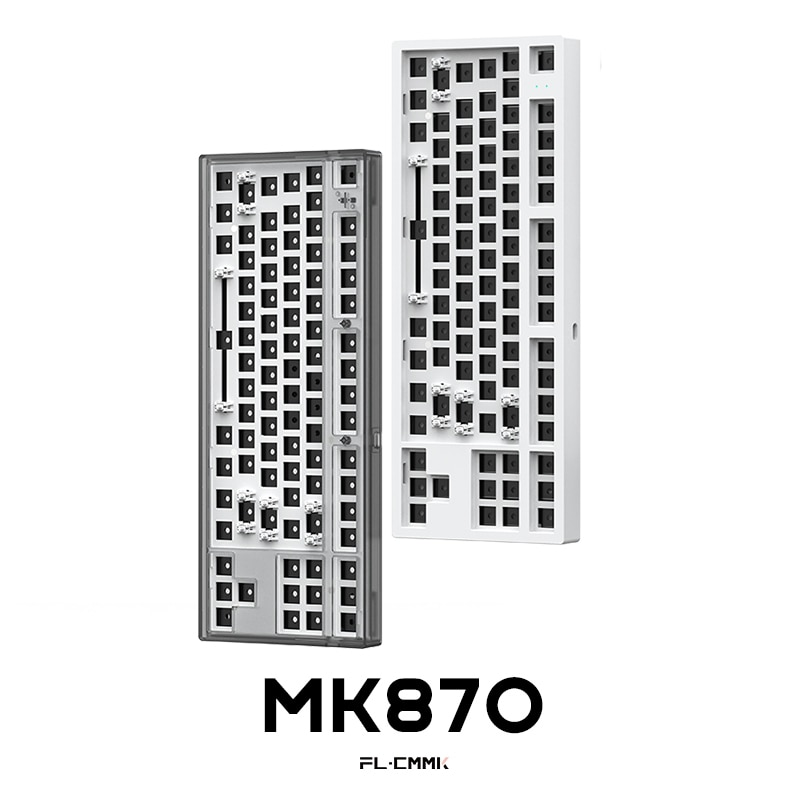 FLCMMK MK870 لتقوم بها بنفسك 87 مفاتيح مجموعة لوحة المفاتيح الميكانيكية 80% لوحة المفاتيح WK تخطيط RGB وضع واحد لوحة المفاتيح السلكية