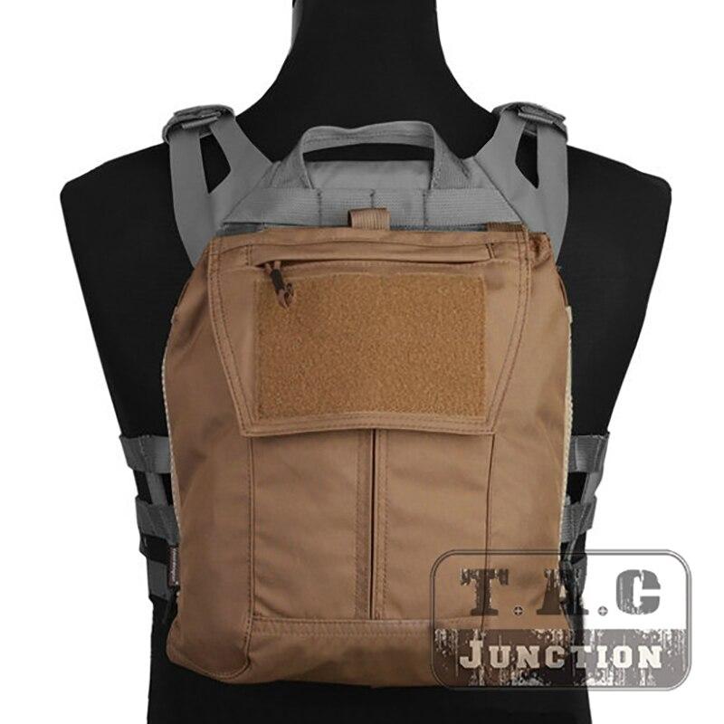 Emerson Taktische Weste Zubehör Zip-auf Panel Für CPC NCPC GPA 2,0 AVS Weste CP Stil Platte Träger Rucksack pouch Coyote Brown