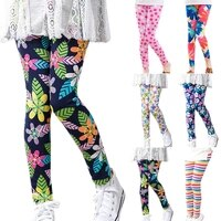 young girls floral print pants kids skinny leggings for 2 14 years casual jogging running autumn