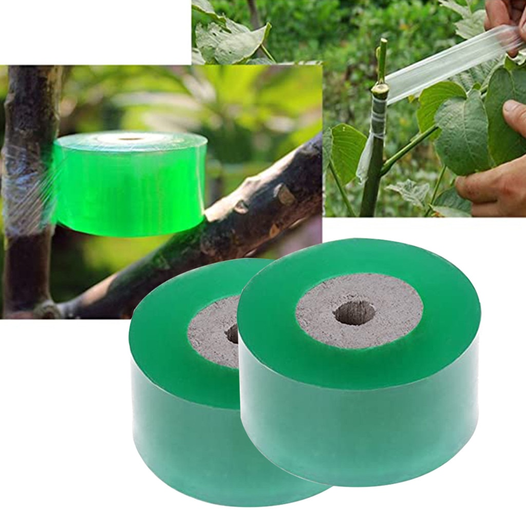 2-pcs-nursery-stretchable-grafting-tape-bio-degradable-plants-repair-tapes-tools