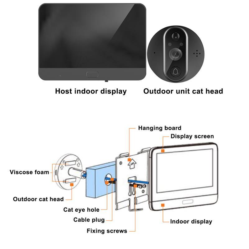 Smart WiFi Video Doorbell Security Doorbell Viewer Home PIR Motion Detection Security Monitor Detection Tuya APP Remote Control enlarge