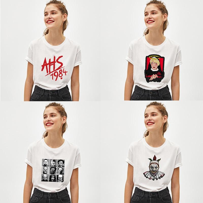 American Horror Story Cool Printed Men Women T Shirt Casual Cotton Boys Girls Teens T-Shirt Couple Short Sleeve Tee Shirts Gifts