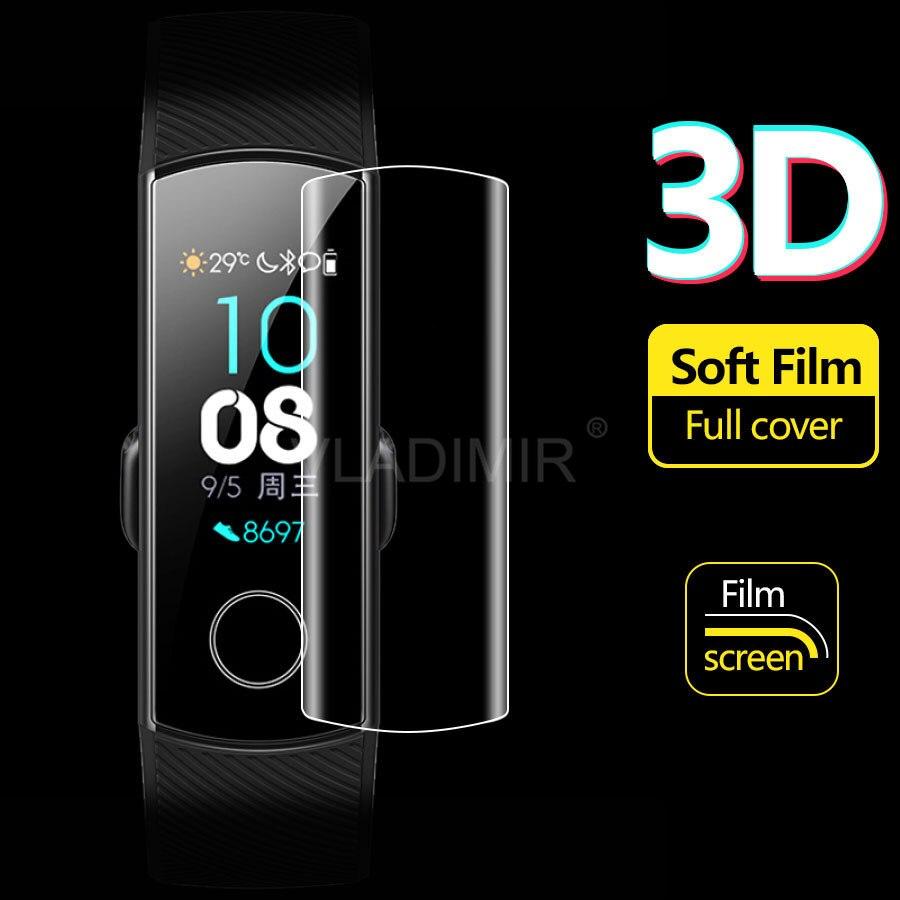 Protector de pantalla de hidrogel para Huawei Honor Band 5, 4, 3 Pro, funda completa, película protectora para Huawei Honor Band 5, no cristal