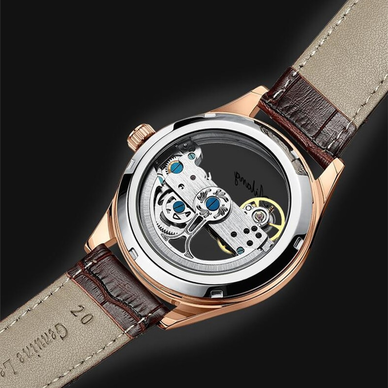 Luxury Men Mechanical Watches Automatic Watch Business Waterproof Hollow Out Case Men Wristwatch Men's Watches Relogio Masculino enlarge