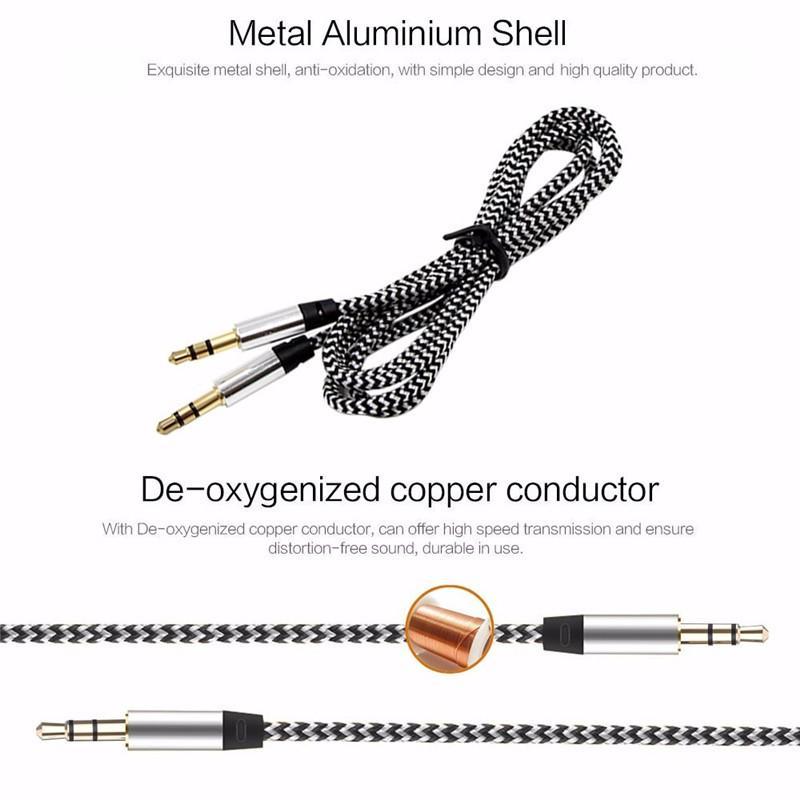 Coche Universal Jack de 3,5mm de Cable de Audio AUX Cable para Mitsubishi ASX Outlander Lancer EX Pajero Opel Mokka Volvo S60 v60 XC60