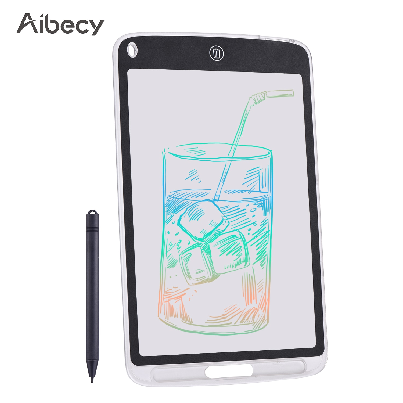 Aibecy 10 Polegada lcd escrita tablet translúcido cópia desenho placa digital tela colorida almofada de escrita com caneta stylus