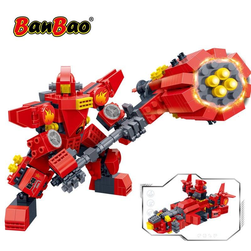 BanBao робот космическое ремесло 2 в 1 строительные блоки трансформатор креативный развивающий кирпич модель игрушки Дети подарок 6316