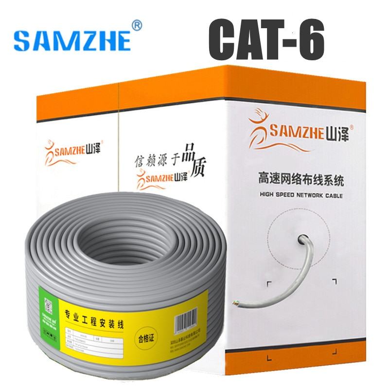 Cable de red de ingeniería Cat6, Cable Lan de Internet UTP, Cat...