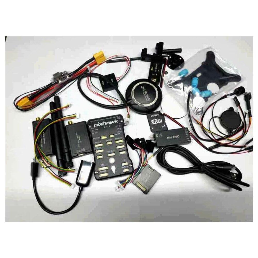 Pixhawk PX4 PIX 2.4.8 contrôleur de vol 32 bits + télémétrie 433/915 + GPS M8N + Minim OSD + PM + interrupteur de sécurité + sonnerie + PPM + I2C + 4G SD
