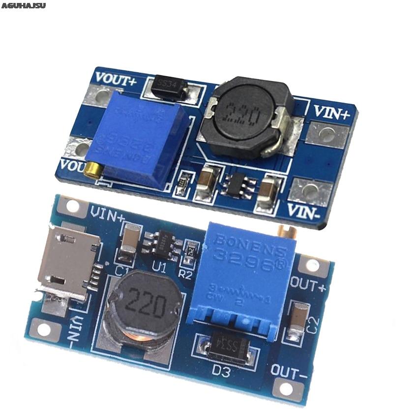 MT3608 DC-DC регулируемый Повышающий Модуль 2A повышение пластина Step Up Модуль с MICRO USB 2 V-24 V 5V 9V 12V 28V