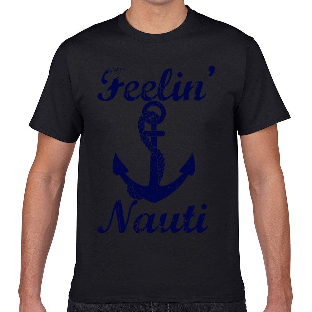 Tops T gömlek erkekler feelin nauti o-boyun Vintage Geek kısa erkek T Shirt XXXL