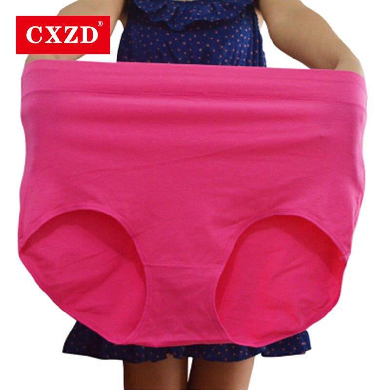 CXZD VIP хит продаж женские трусы больших размеров из микрофибры супер эластичные мягкие дышащие трусы со средней посадкой
