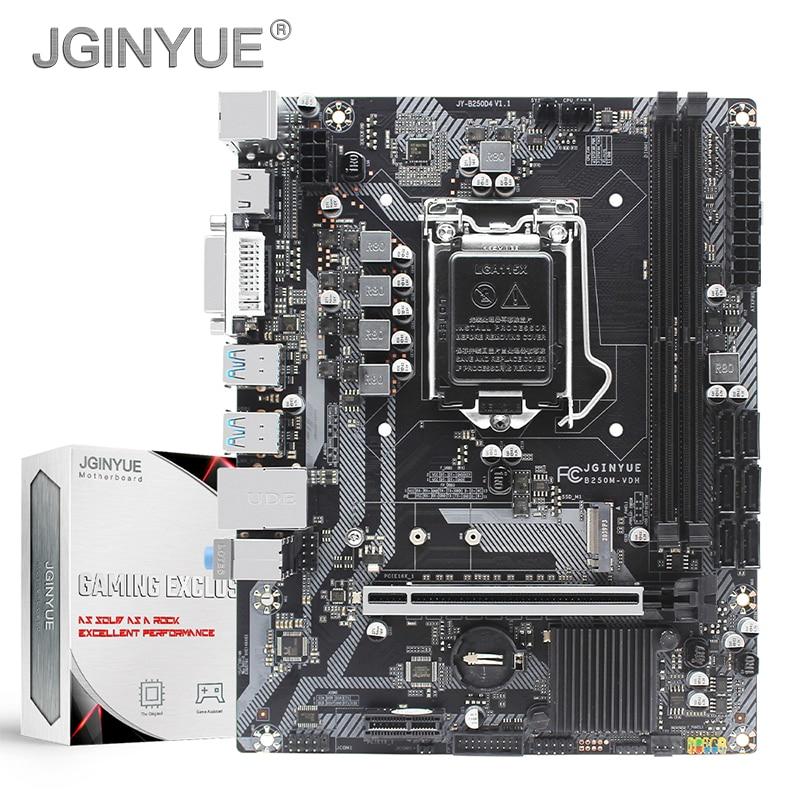 JGINYUE B250 اللوحة LGA 1151 دعم إنتل كور/بنتيوم i3/i5/i7 6th/7th/8th/9th سلسلة المعالج DDR4 64G الذاكرة B250M-VDH