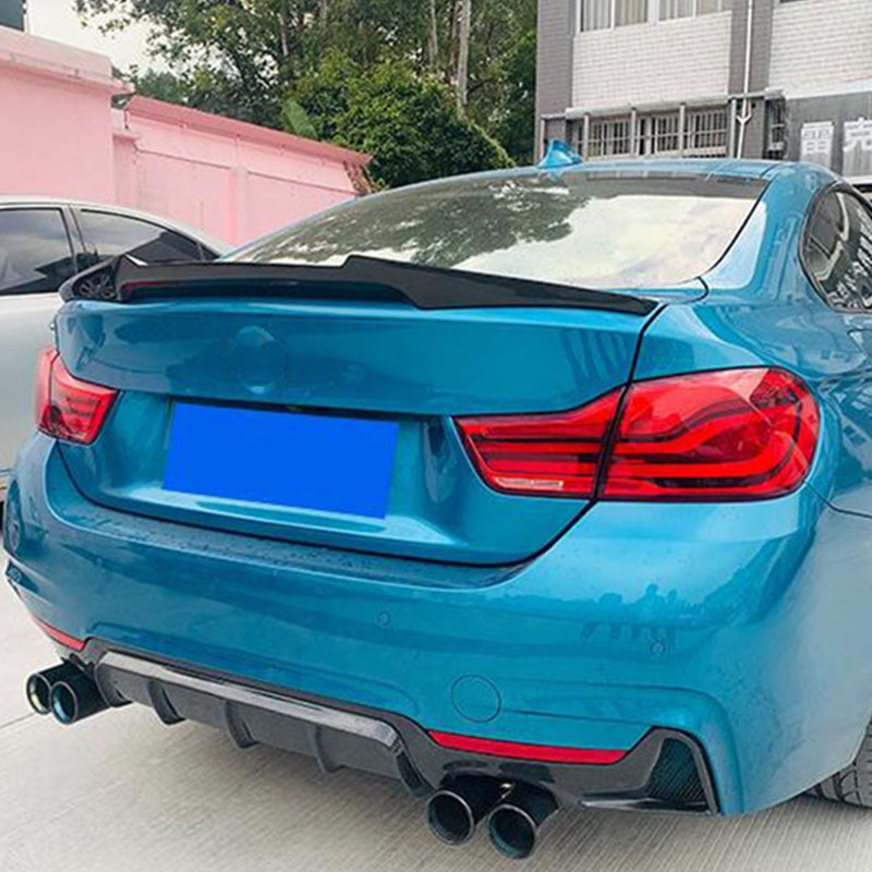 FOR Real Carbon Fiber Car Spoiler Wing BMW 4 Series 4Door Coupe F36 Auto Trunk M4 Tail Fin Refit Rea