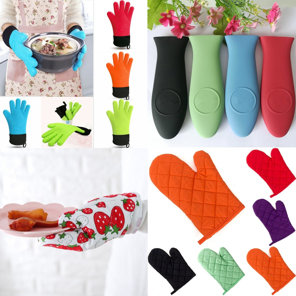 High Quality Microwave Oven Gloves Cotton Oven Gloves For Barbecue Kitchen Baking Insulation Gloves Household Microwave Oven