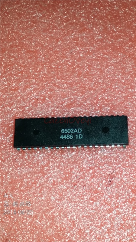 1 unids/lote MOS6502 6502AD R65C02AP MOS-6502 6502B = SY6502 DIP-40 en Stock
