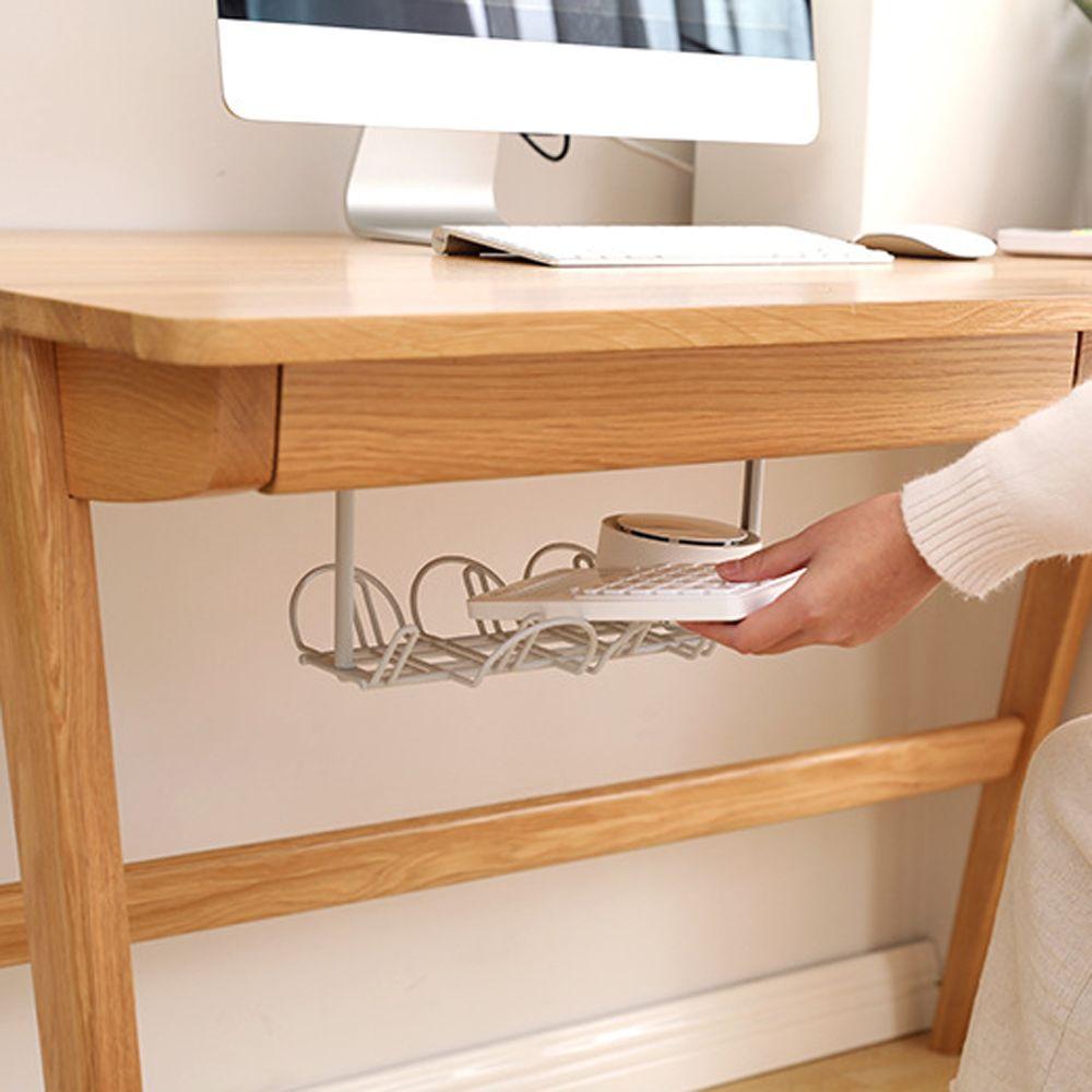Soportes de armario empotrado para almacenamiento en escritorio, soportes para Cable de tira de alimentación, bandeja para gestión de cables, armario adaptador, estante de almacenamiento para el hogar