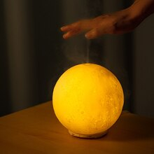 3D Moon Light Aromatherapy Diffuser Ultrasonic Air Humidifier with LED Night Lamp For Home USB Elect