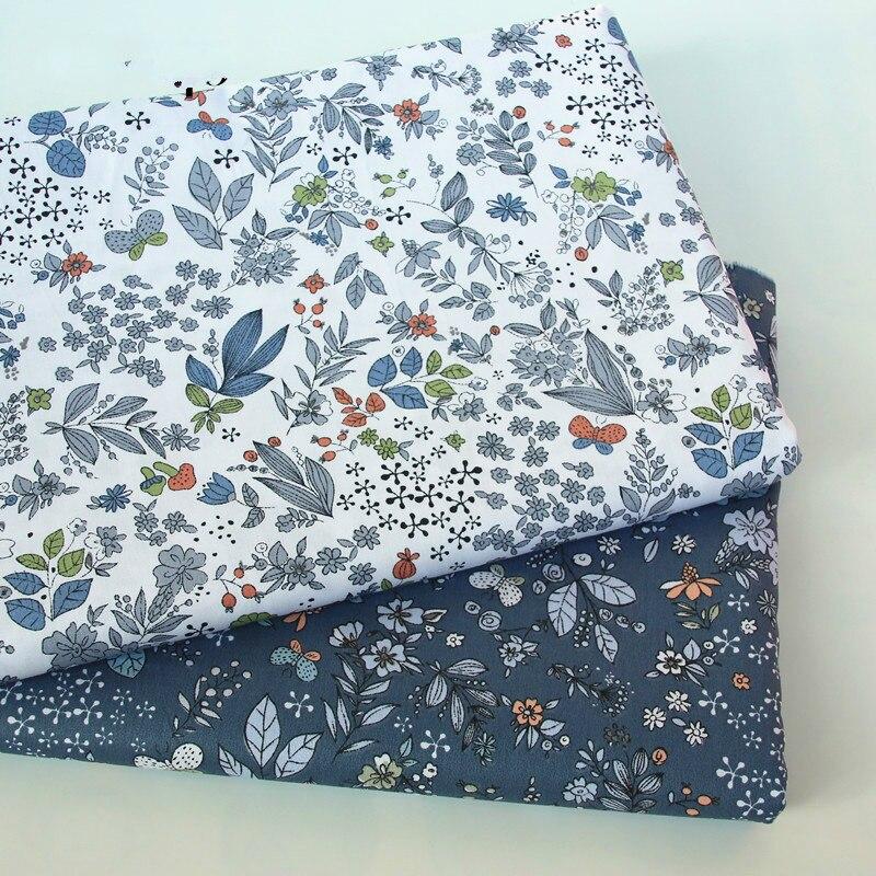Детская хлопчатобумажная ткань buulqo с принтом, Детская стеганая хлопковая саржевая ткань по метрам, ручная работа, хлопковый материал