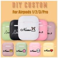 Чехол s для наушников Air Pods 1 2, силиконовый, с индивидуальным дизайном, с фотографиями