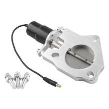 Kit de silencieux en acier inoxydable   Découpe de 2 2.25 2.5 3 pouces, tête découpée et Be Cut, Valve électrique, embout déchappement, accessoires de voiture